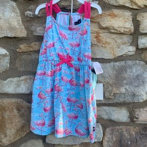 Nautica flamingo dress pink blue 24 months NEW